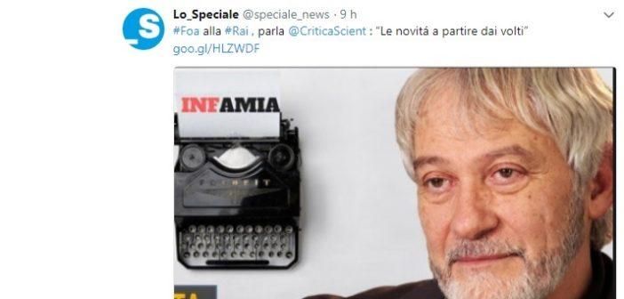 """Foa alla Rai, parla Enzo Pennetta: """"Le novitá a partire dai volti"""""""