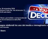 Conferenza a Roma su media e consenso elettorale: Giampolo Rossi presentato da Enzo Pennetta