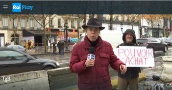 I  gilet gialli protestano per i salari bassi ma sul TG 3 va in onda lo spin: il problema è l'ecologia