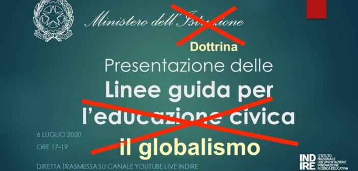 Educazione civica: il cavallo di troia del globalismo